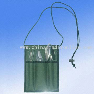Convenient Garden Tools in Pouch, Three Piece in One Set