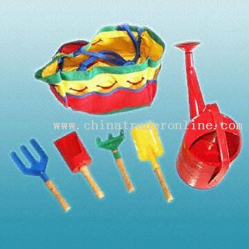 Five-Piece Wooden-Handled Garden Tool Set with Long Use Time