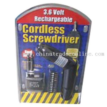 3.6V Cordless Screwdriver from China