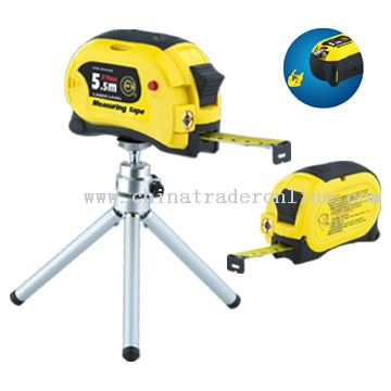Steel Tape Measure with Laser Level