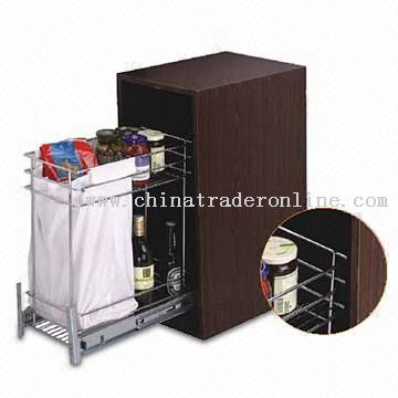 Bread and Bottle Basket for 300/400mm Cabinet with Slide Frame and Basket