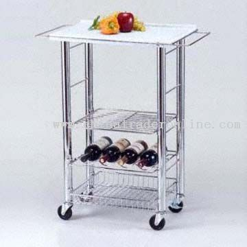Mobile Kitchen Cart with Casters