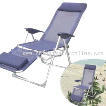 Hi-Back Folding Chair with Footrest
