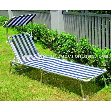 Poolside Lounger With Sunshade