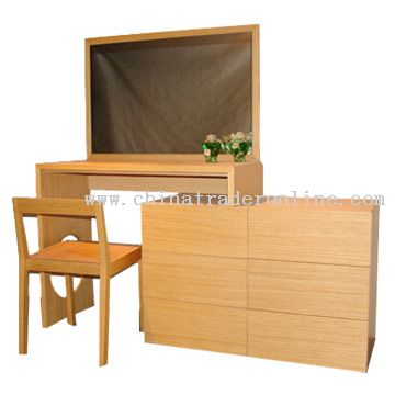 Bedroom Furniture Set, Dresser and Chair from China