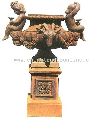Cast Iron Flower Pot, Urns And Planters