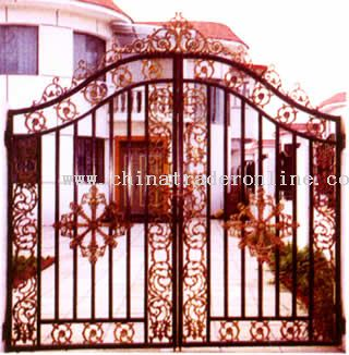 Cast Iron Gate, Fence, Doormat And Outdoor Furniture