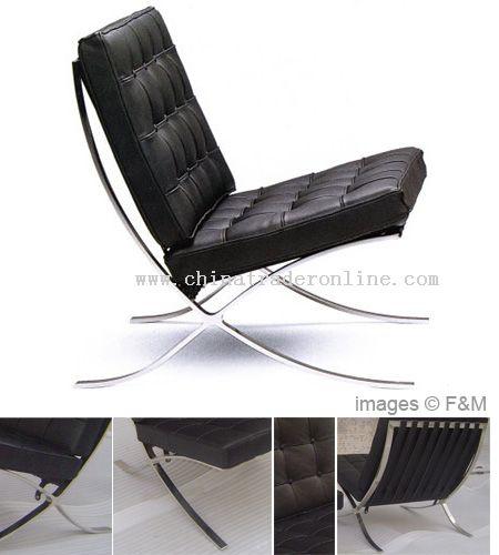 barcelona chair and barcelona ottoman