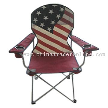 Folding Chair with USA Flag Printing from China