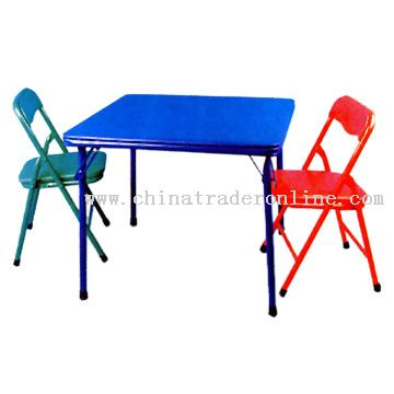 Childrens Bridge Table and Chairs
