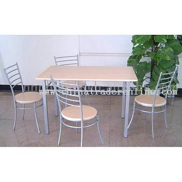 Rectangluar Dining Set (1 Table With 4 Chairs)