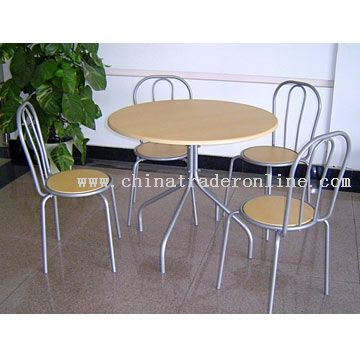 Round Dining Set (1 Table With 4 Chairs)
