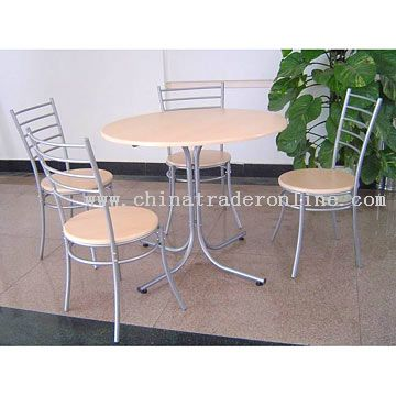 Round Dining Set (1 Table With 4 Chairs) from China