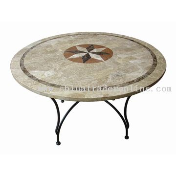 Travertine Stone Round Table