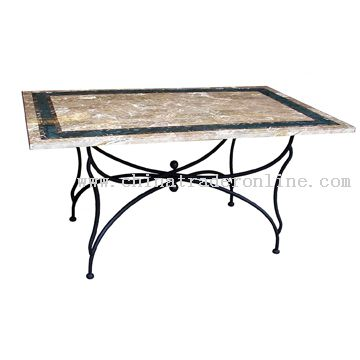 Travertine rectangular table from China