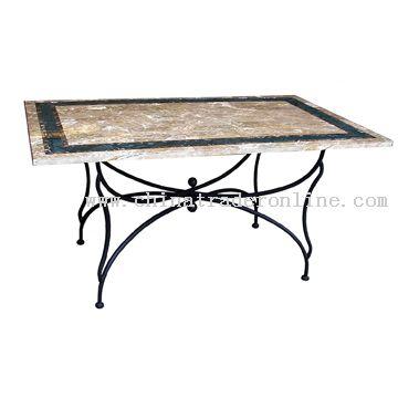 Travertine rectangular table