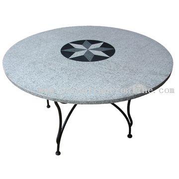 Travertine round table