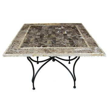 Travertine square table from China