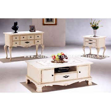 wholesale queen anne antique white coffee table-buy discount queen