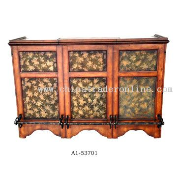 Wooden Bar with PVC, Metal