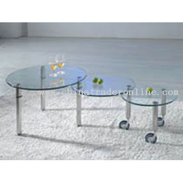 Modern Metal and Glass Coffee Table