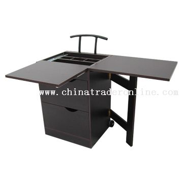 Folding Desk with File Cabinet
