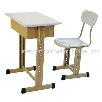 School Desk & Chair from China