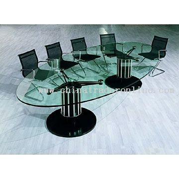 Tempered Glass Conference Table ...