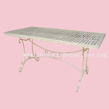 large metal table