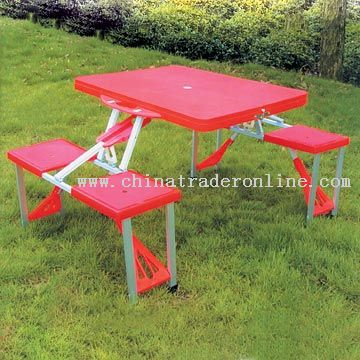 Free picnic table plans at dePlans.com
