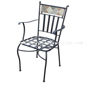Stone back arm chair from China