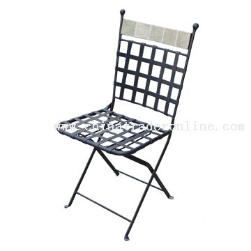 Stone back folding chair from China