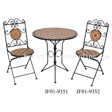 Terracotta Mosaic Table and Chair Sets