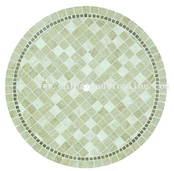 Travertine round table top from China
