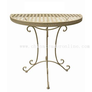 Wrought Iron Half Table from China