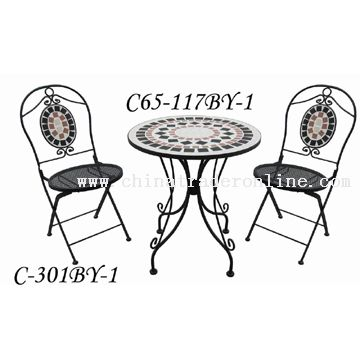 Wrought Iron Mosaic Table Set From China