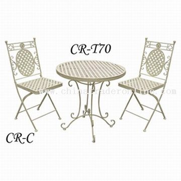 Wrought Iron Table Set from China