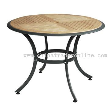 Aluminum-Wood Table