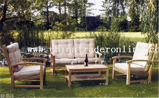 Outdoor Wooden Furniture with cushion