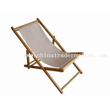 Rubber Wood Beach Chair