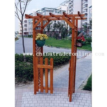 pictures of wooden wedding arches