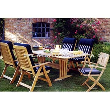 Wooden Rest Table and Chairs