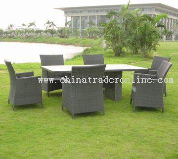 Rectangular table with 6 chairs
