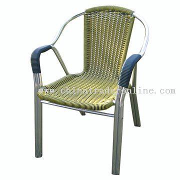 Aluminum-Rattan Chair