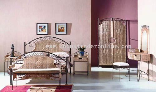Rattan, Bamboo Bedroom Set
