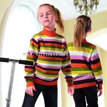 Children Colorful Stripe Sweater