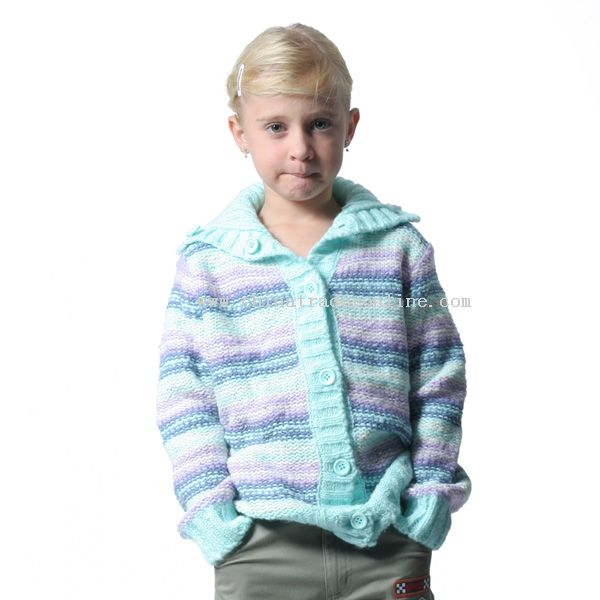 Childrens Mohair and Acrylic Cardigan