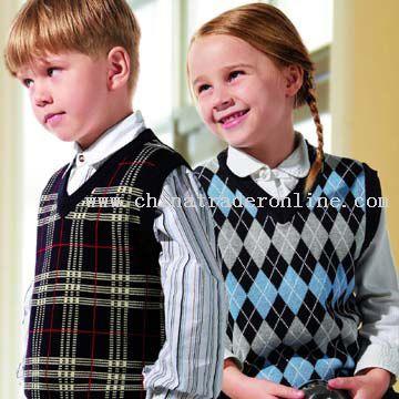 Children V-Neck Vests from China