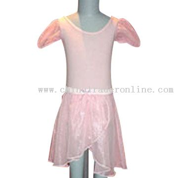 Girls Dance Wear Model No.:CTO22824 Description: Girls' dancewar in 85%