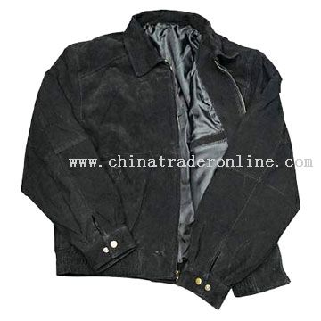 Mens Suede Leather Jacket from China